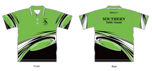 polo top with green top area